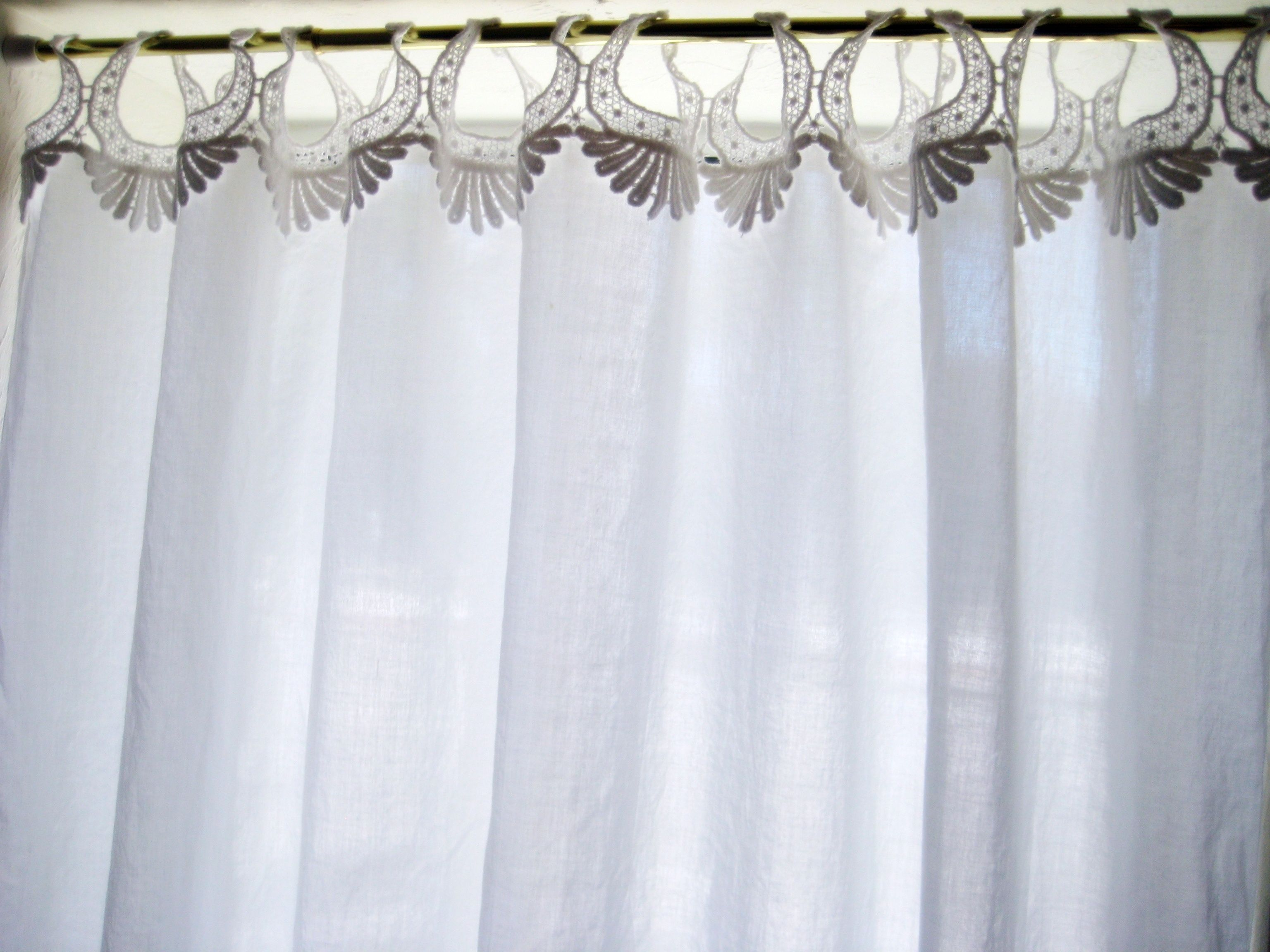 The exact white curtains you've been looking for...  $49.00 each panel free shipping