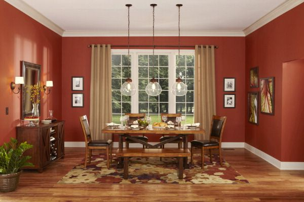 Outstanding We Love The Warm Colors In This Dining Room Allen Roth Home Interior And Landscaping Palasignezvosmurscom