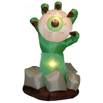 Inflatable Halloween Decoration Monster Hand With Eyeball Lighted - outdoor inflatable halloween decorations