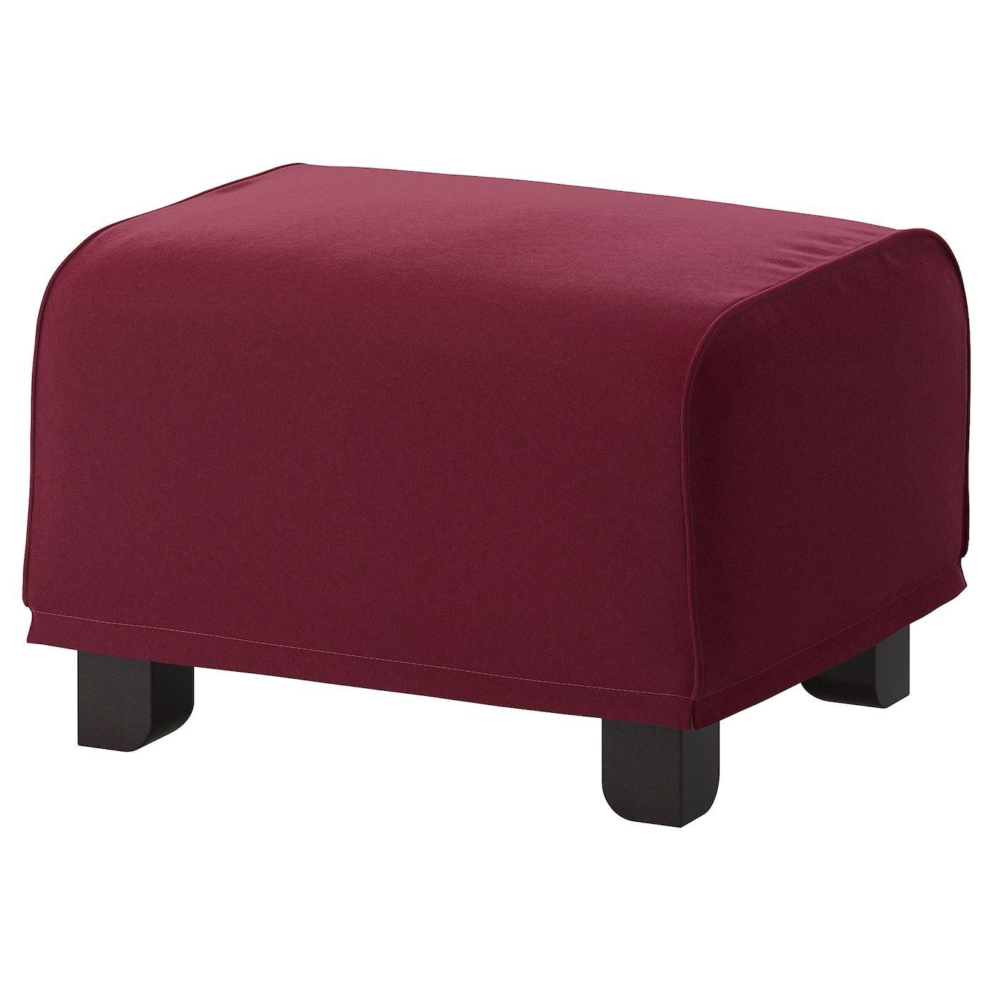 Ikea Gr 214 Nlid Footstool Ljungen Dark Red Ikea Ikea