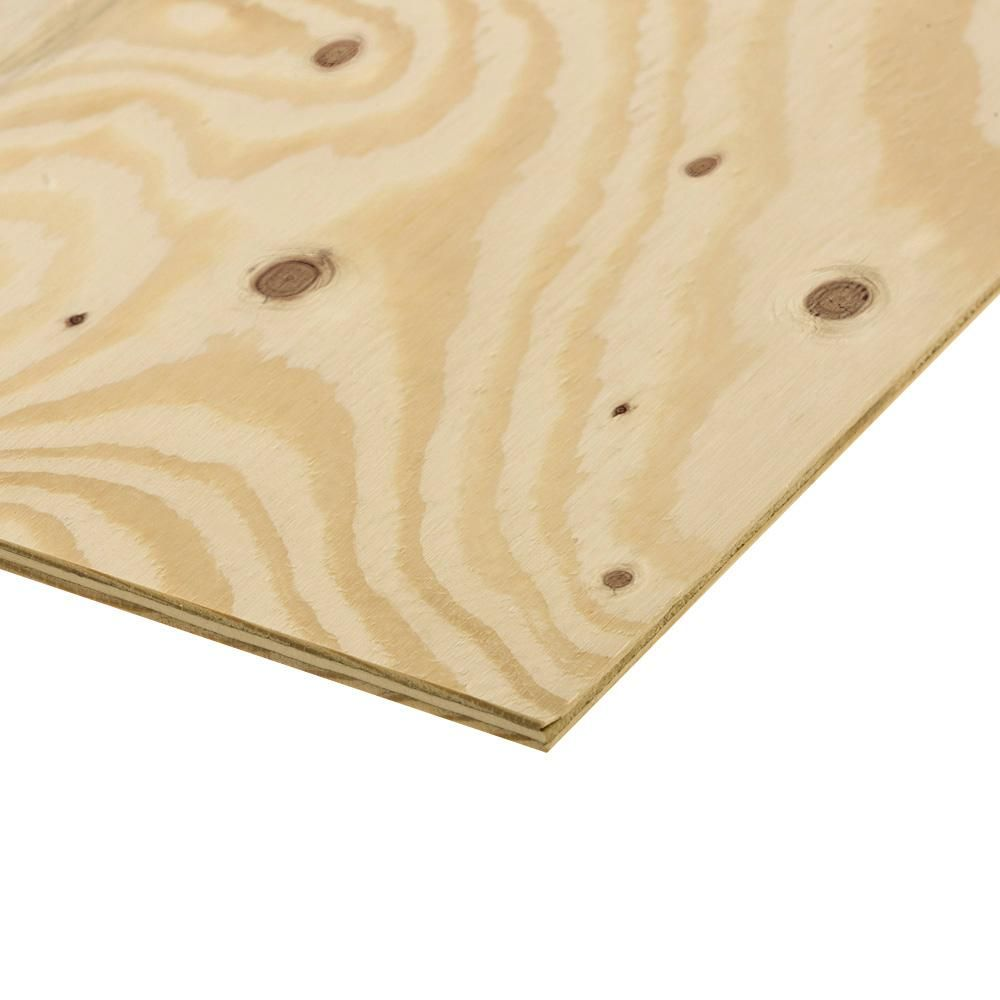 Home Depot Null 3 4 In X 4 Ft X 8 Ft Ground Contact Pressure Treated Pine Performance Rated Sheathing Exterior Grade Plywood Sheathing Pine Plywood