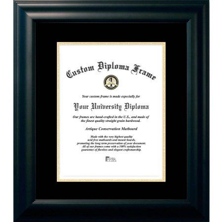 Campus Images 10x14 Satin Black Black And Gold Mats Certificate Frame Frame Artique Mat