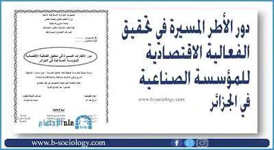دور الأطر المسيرة في تحقيق الفعالية الاقتصادية للمؤسسة الصناعية في الجزائر Pdf In 2021 Bullet Journal Journal