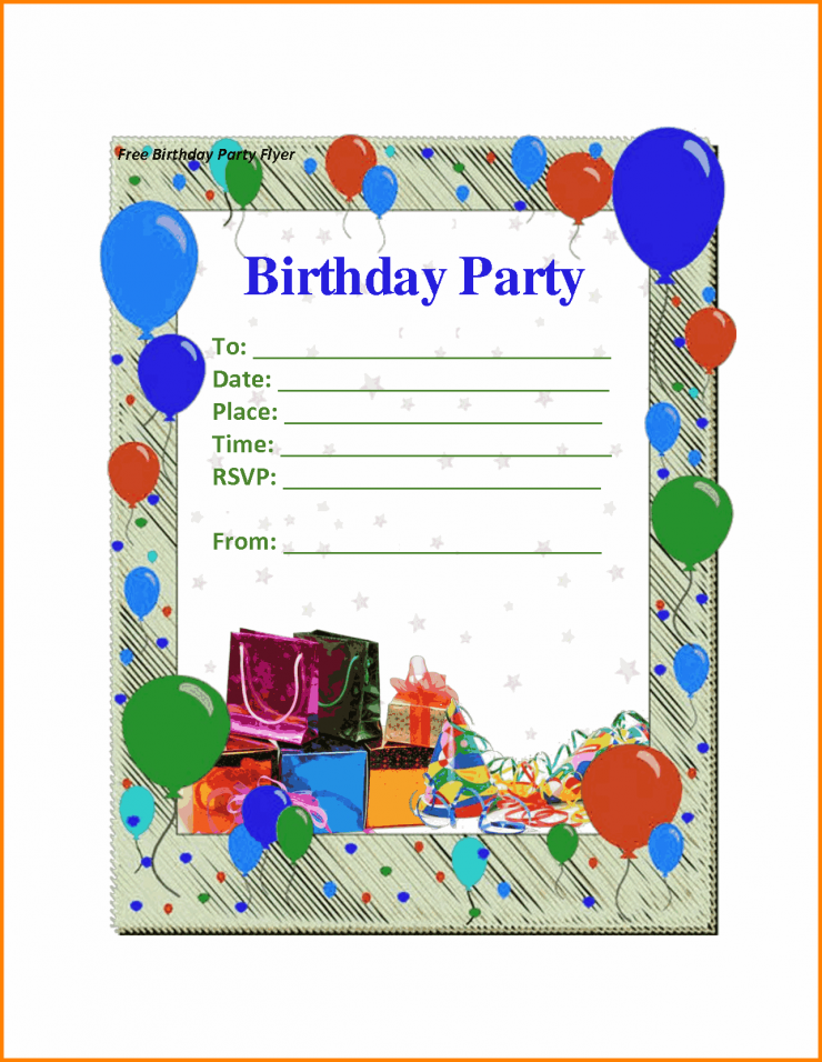 Birthday Party Invite Maker Design Inspirations Invitation Free Printable With Colorful Balloon And Modern Border