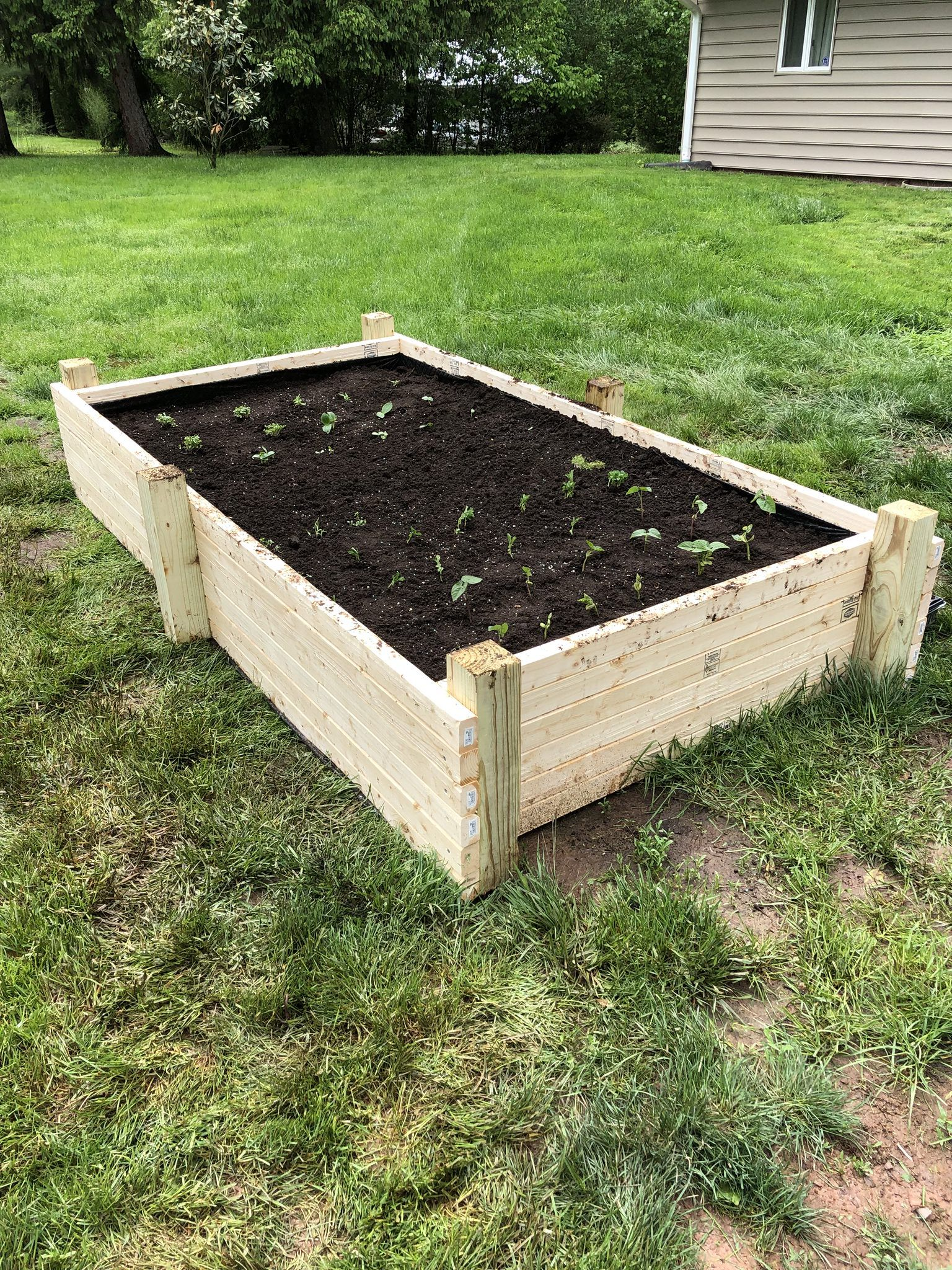 Diy x raised vegetable garden bed handmade crafts howto diy
