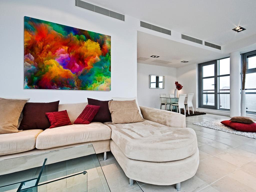 22001 Obraz Na Plotnie Abstrakcja Kolor 120x80 5903771555 Oficjalne Archiwum Allegro Home Decor Living Room