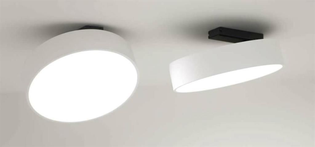 Spot de plafond led rond orientable supernova xs for Spot design plafond