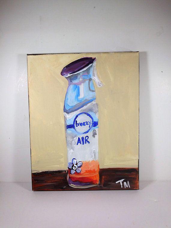 Air freshener painting on canvas, Still life wall art, weird wall ...