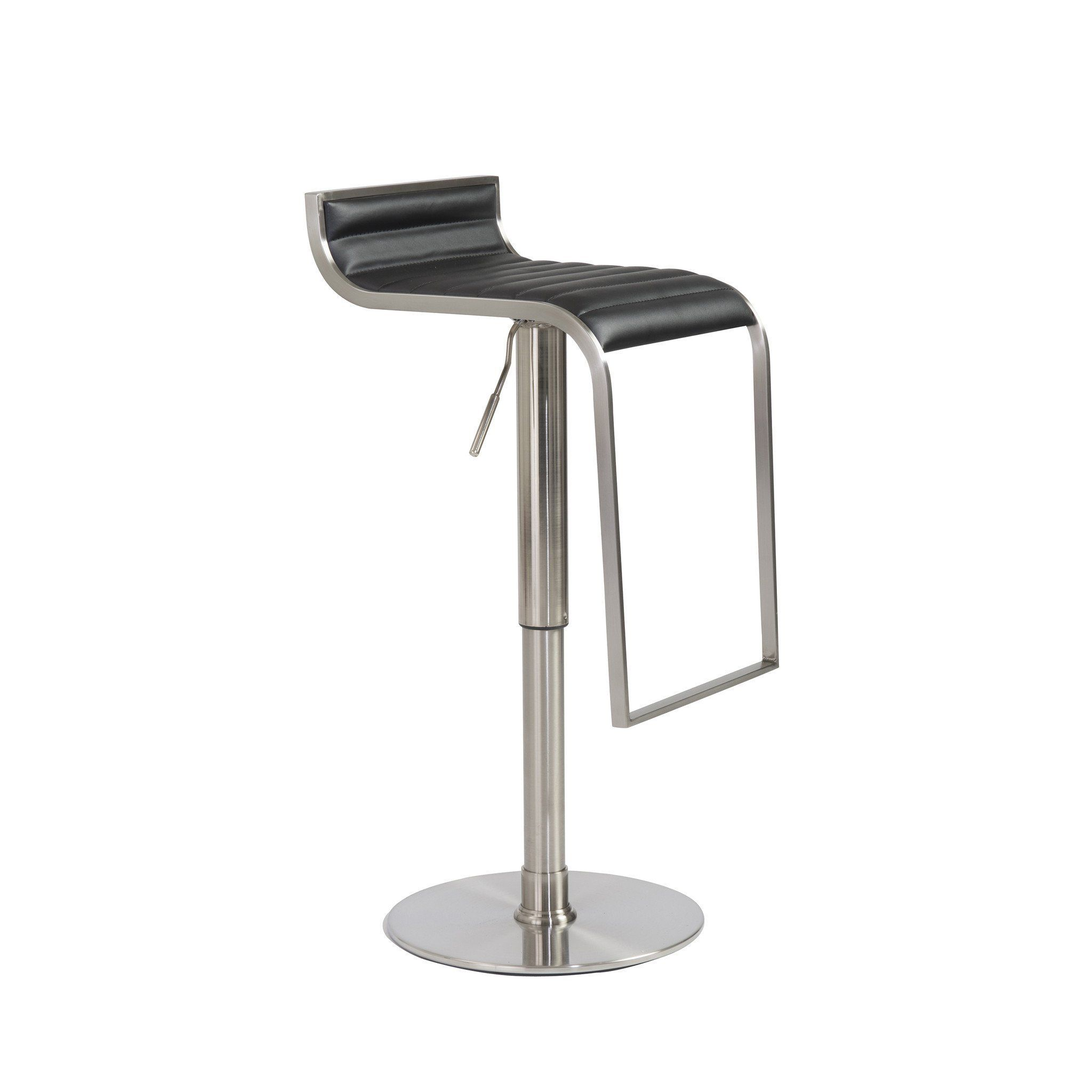 Pleasant Euro Style Forest Bar Counter Stool In Black Satin Nickel Machost Co Dining Chair Design Ideas Machostcouk