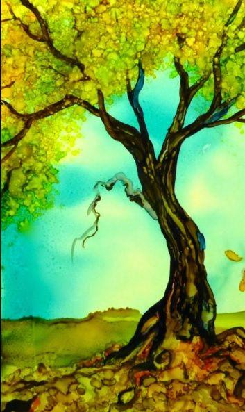 Tree Acuarela Sobre Papel Yupo Pintada Por Wendy Videlock Como