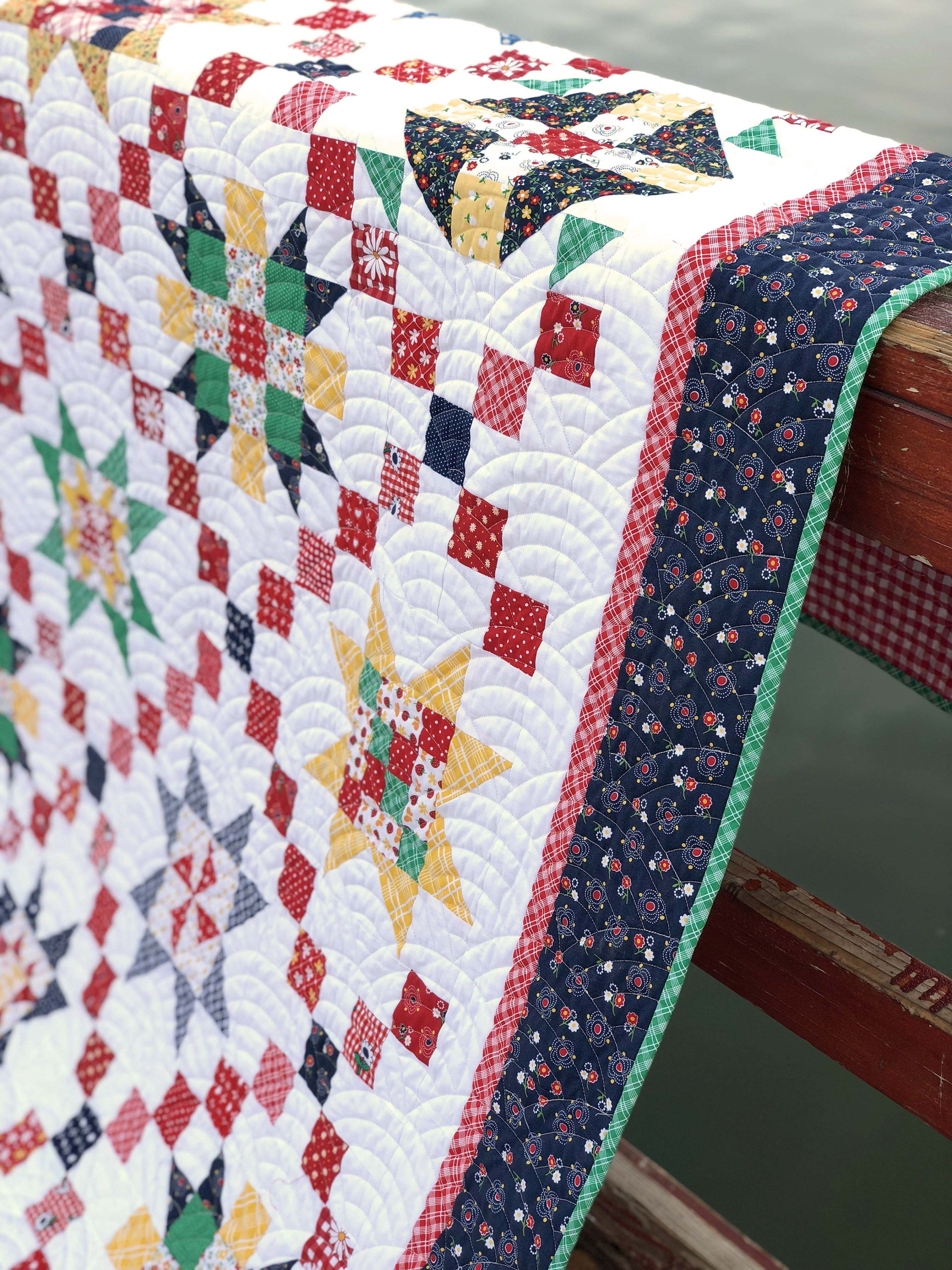 Free Sampler Quilt Tutorial From Riley Blake And Amy Smart Diary Of A Quilter A Quilt Blog Sampler Quilts Amish Quilt Patterns Sampler Quilt