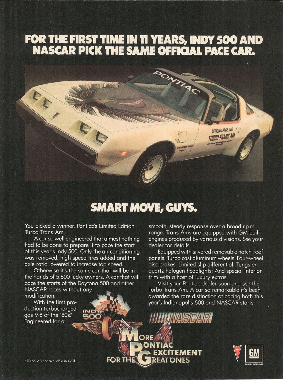 Trans Am Ads From 1980s Old Car Ads Pace Cars Pinterest