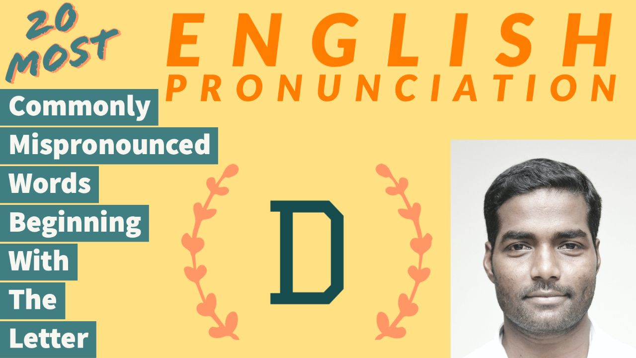 English Pronunciation in 2020 Words, Letter d, Lettering