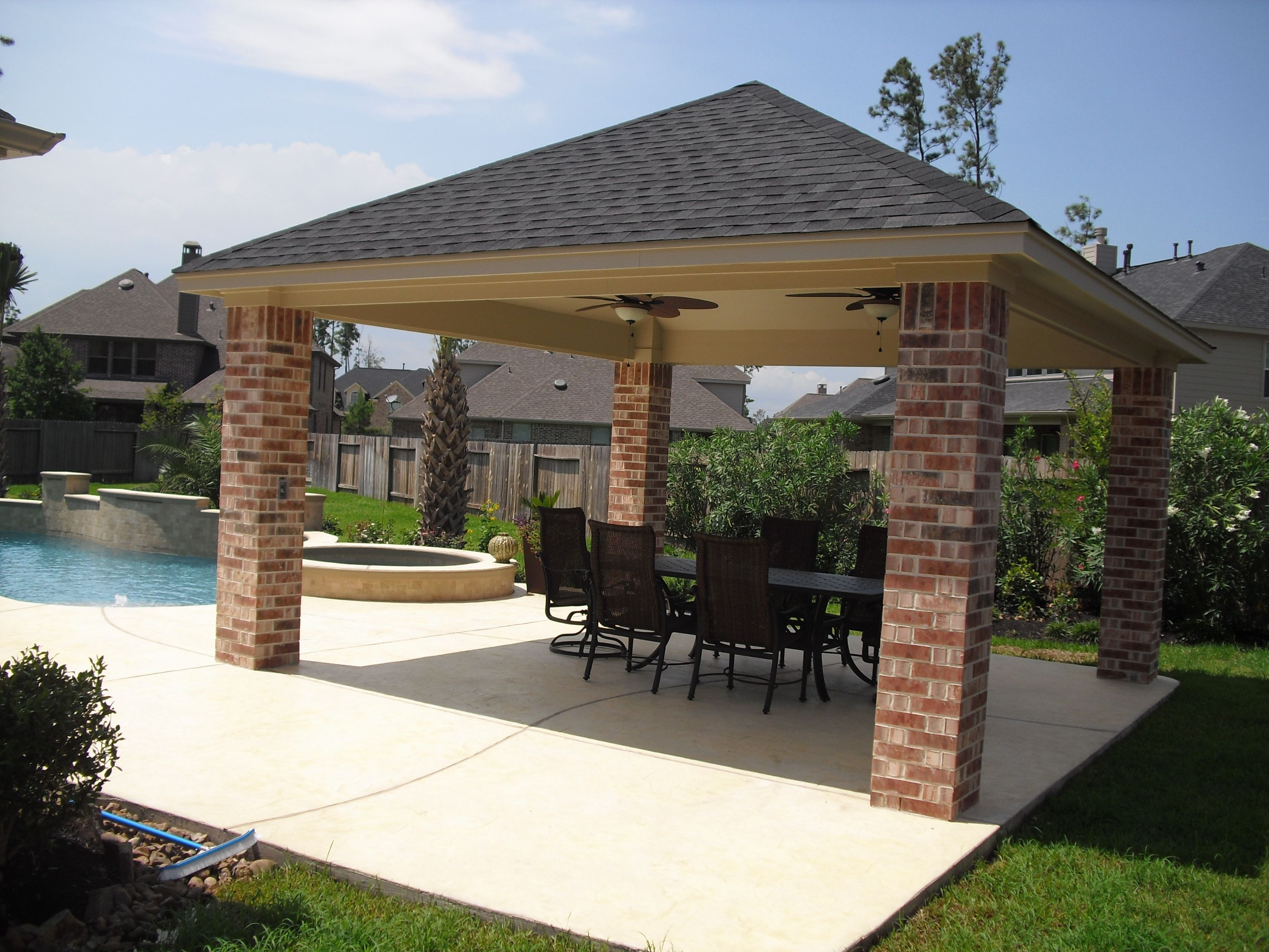 covered patio roof ideas free