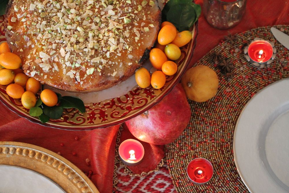 Around The World Dinner Party Ideas Part - 44: Apricot And Pistachio Cake With Cardamom Whipped Cream