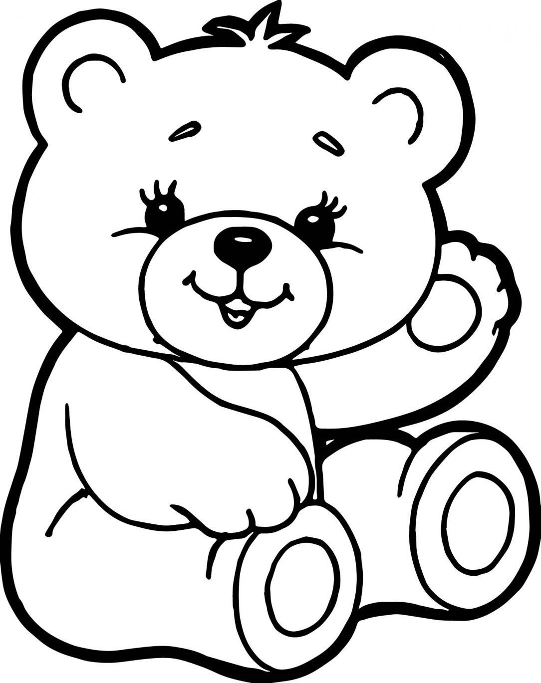 Teddy Bear Coloring Page Luxury Color Sheet Cute Teddy Bear Brown