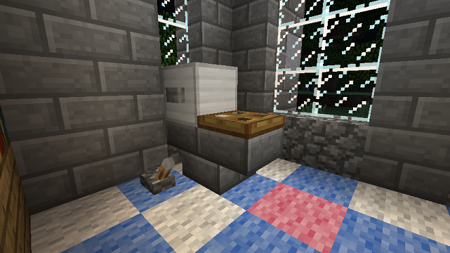 Minecraft furniture bathroom uses the upside down stair for Bathroom designs minecraft
