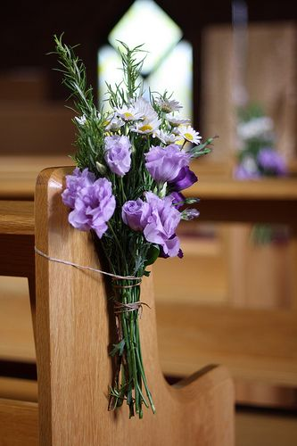 Wedding Pew Ends Church Flowers By Pion For