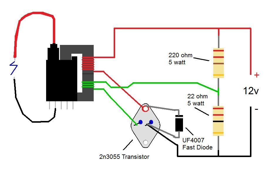 2n3055 Flyback Transformer Driver For Beginners Scamatics Solid. K P Elhelyez S A Circuit Egy Tt Simple Dc Diagram Diy Tesla. Tesla. Fly Back Tesla Coil Circuit Diagram At Scoala.co