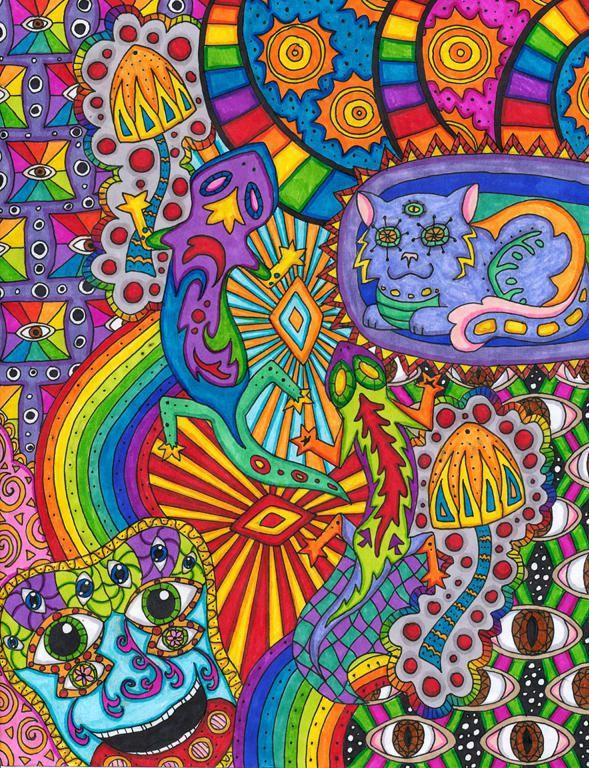 Psychedelisch Tischdecke okkulte Kunst