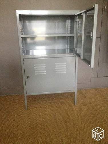 Ikea Armoire de Orne métallique rangement grise Ameublement PZXiuwOkT