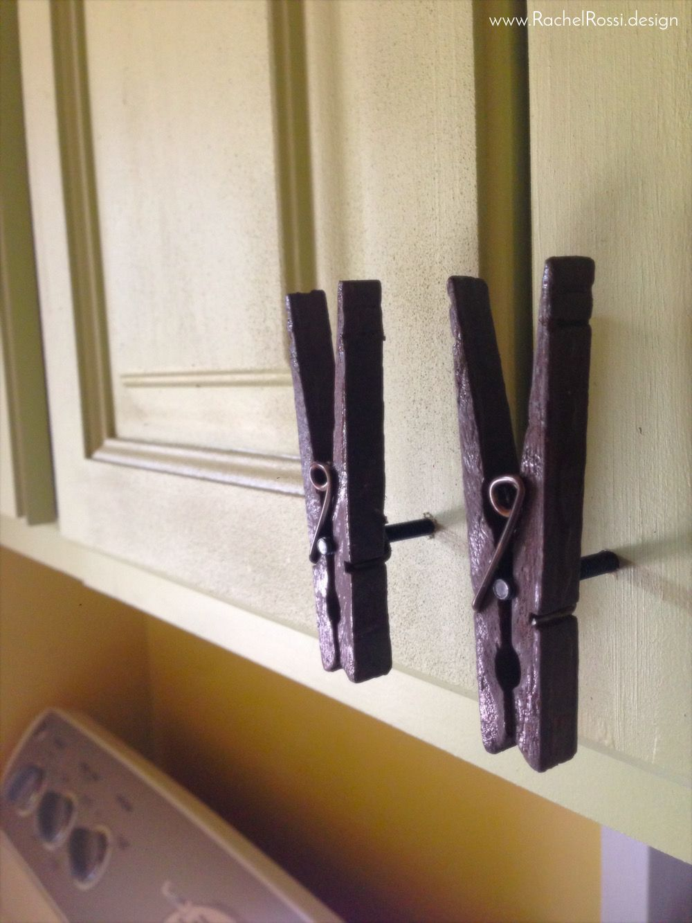 Diy Clothespin Cabinet Pulls Laundry Room Diy Cabinet Pull