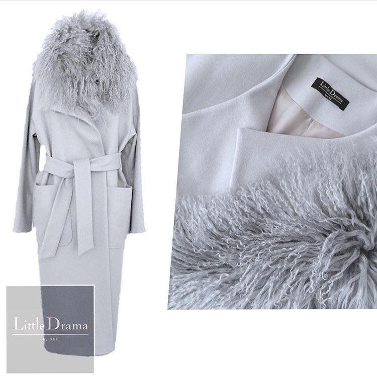 7d8ea663085 Наши любимые  пальто со съемным воротником из меха ламы от   littledrama by nc…