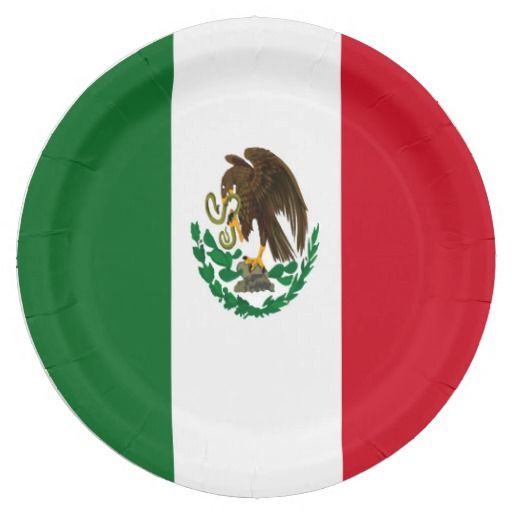 Flag of Mexico Paper Plate  sc 1 st  Pinterest & Flag of Mexico Paper Plate | Mexico flag and Flags