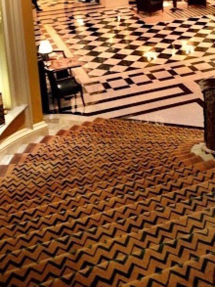 Carpet At Claridge S London Marble Foyer Beyond Blackandwhitedecor Britishstyle Stylebeat Herringbone Tile Pattern Checkered Floors Claridges Hotel London