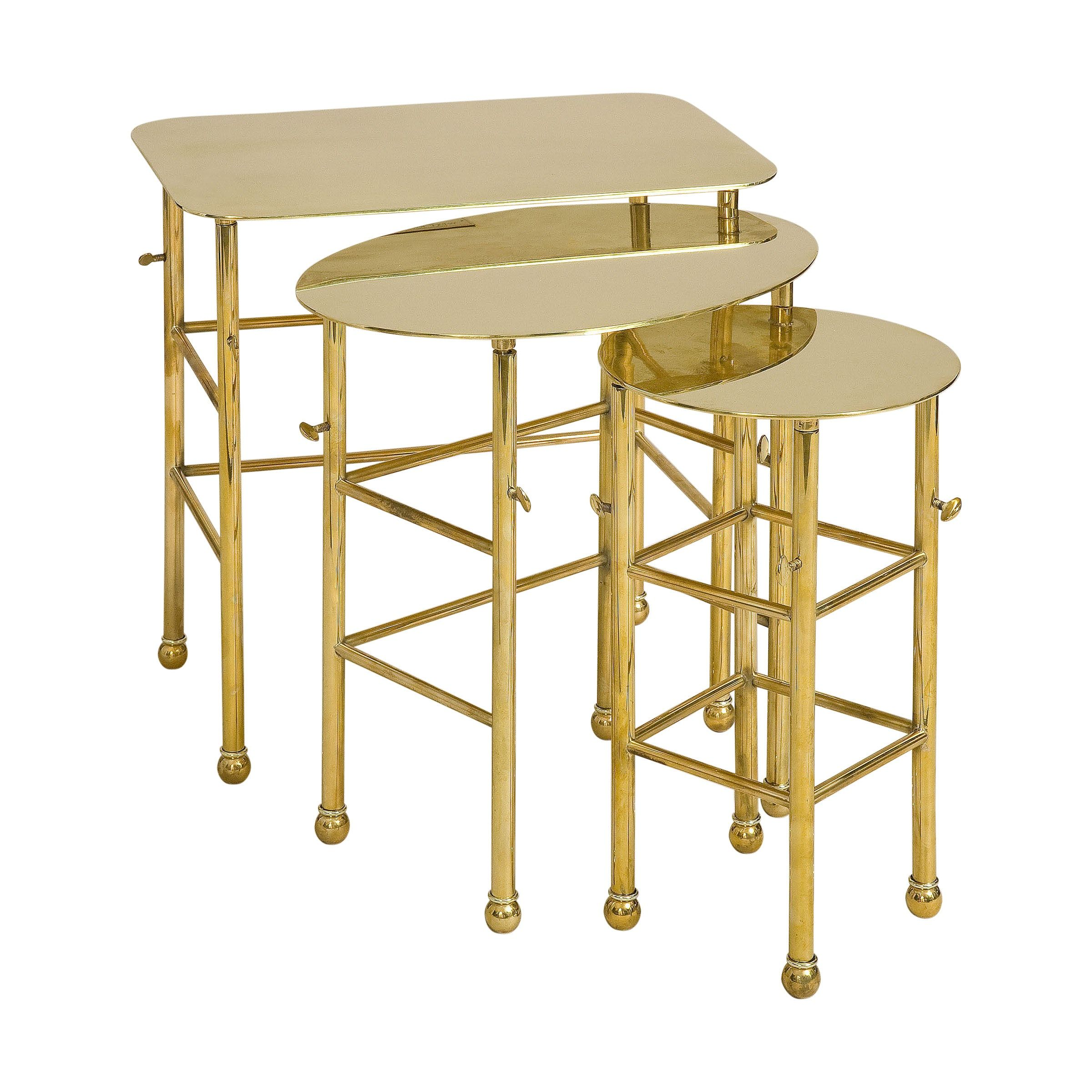 Elizabeth Brass Nesting Tables By West Knoll Collection Nesting Tables Summit Furniture Table