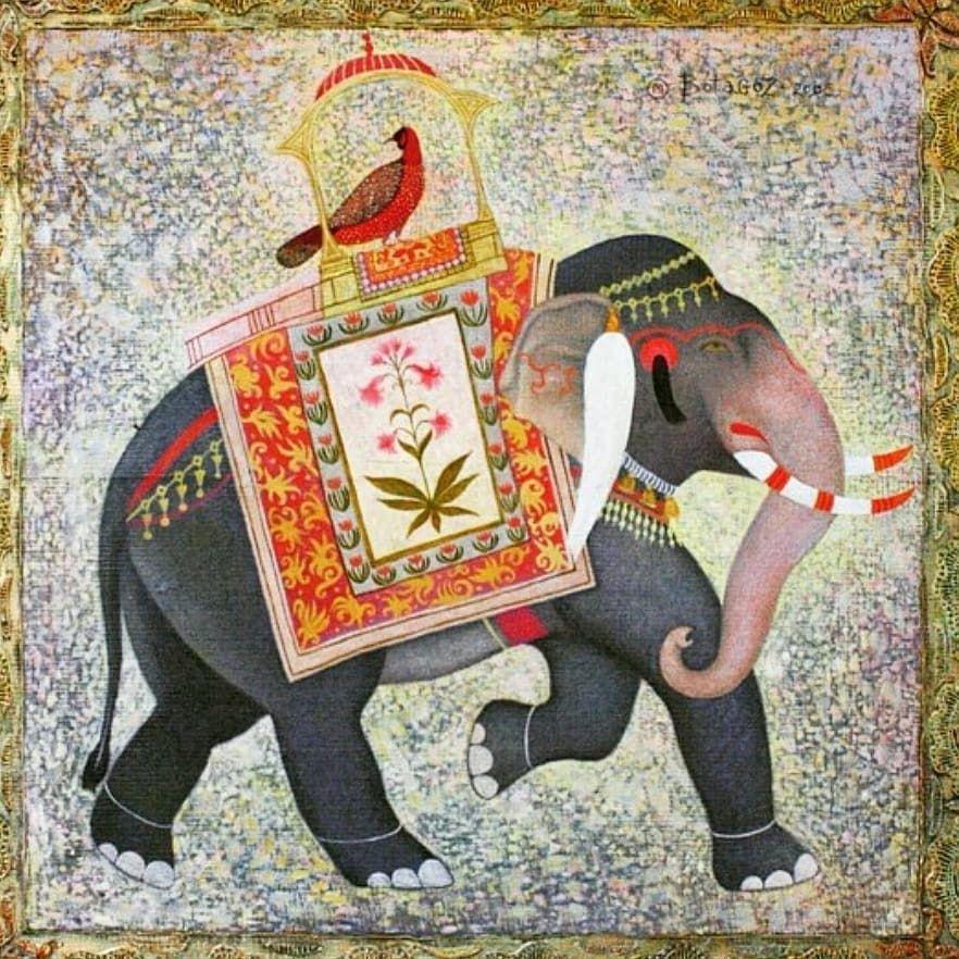 Слон - 🎨 oil on wood