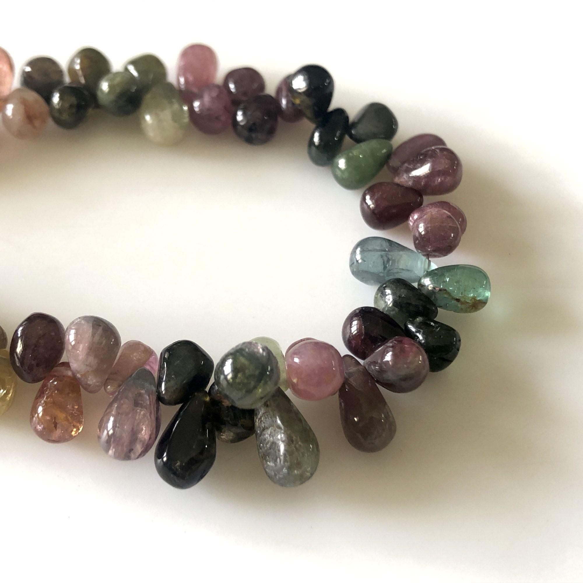 Natural Gem Multi-color Fluorite Faceted 8MM Heart Shape Briolette Beads 8 Inch