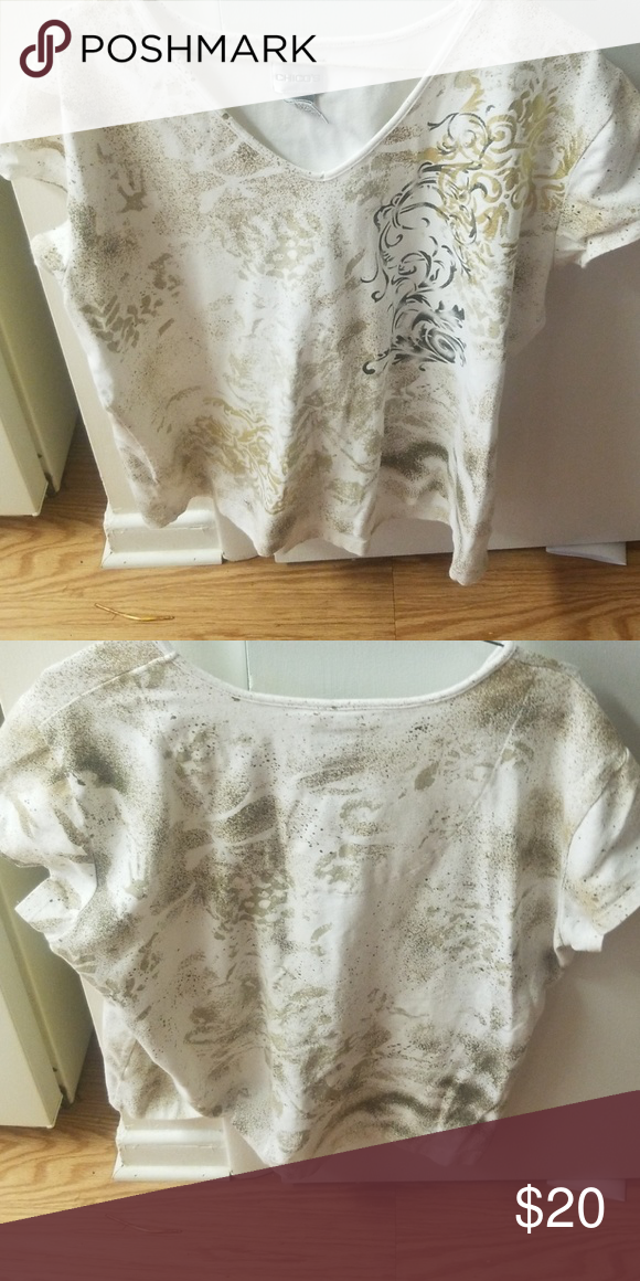 609d53946d13a5 Chicos size 3 top Very nice top has been used will be washed and ready to  go smoke free home Chico s Tops Blouses