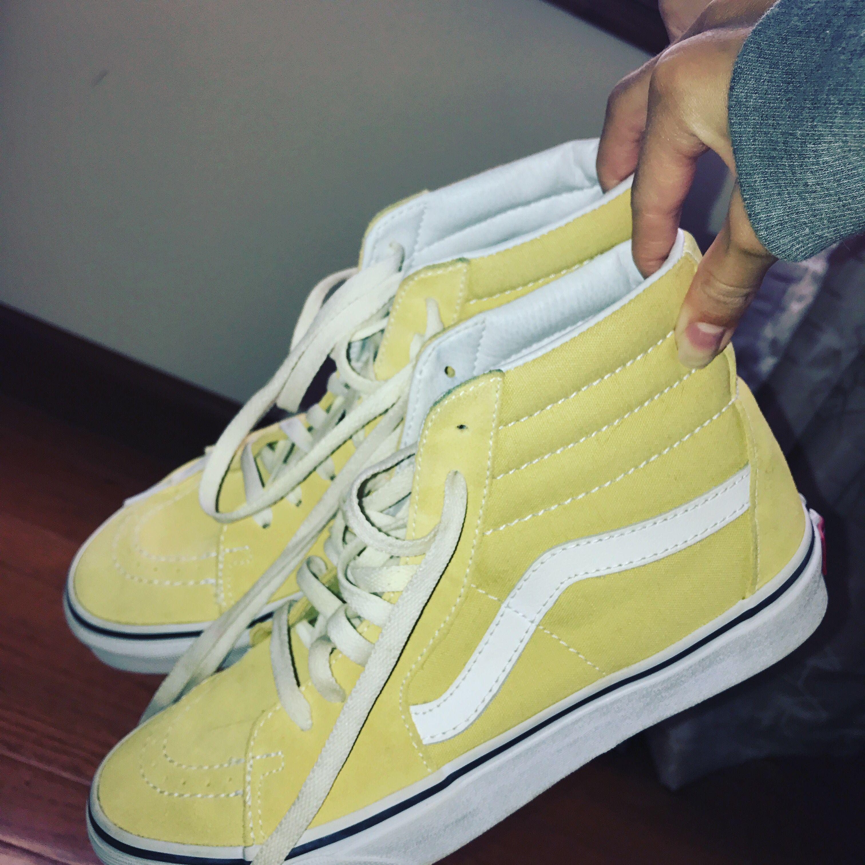 light yellow vans