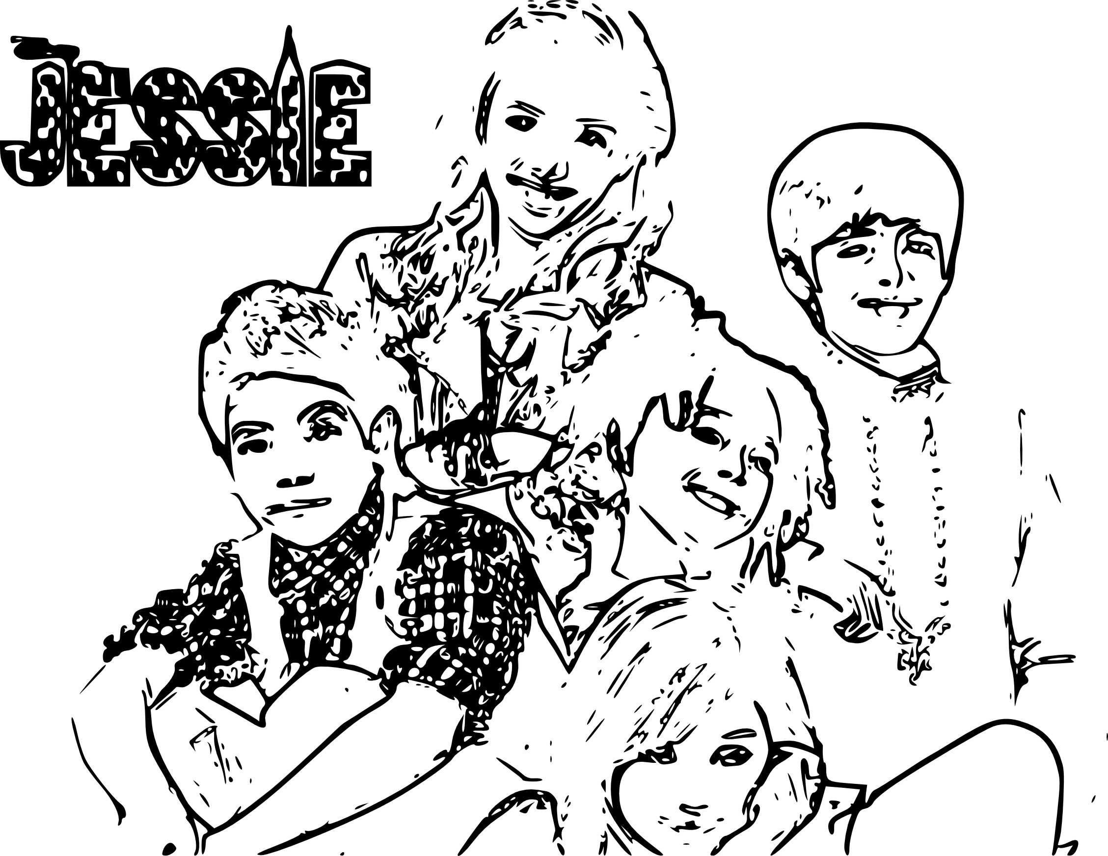 16 Coloriage Disney Channel Disney Jessie Good Luck Charlie Coloring Pages