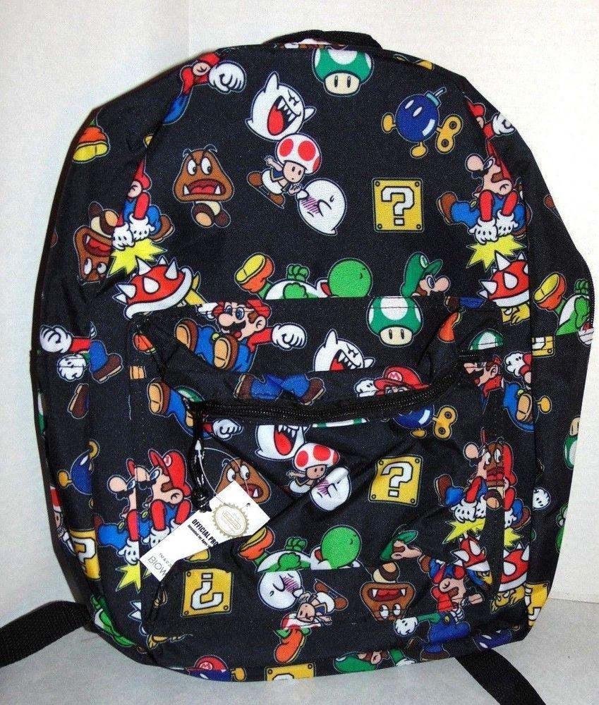 c4fdd79b48b0 Super Mario Backpack Book Bag New Nintendo  Nintendo  Backpack ...