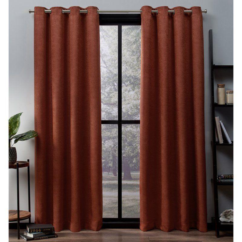 Bruno Solid Room Darkening Thermal Grommet Curtain Panels