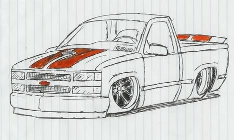 Cool Lowrider Cars Drawings