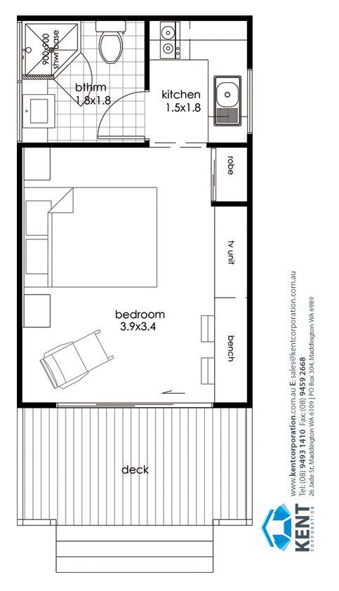 Little Gem Kent Corporation Leaders In Transportable Homes Country Homes Granny Garage Conversion Granny Flat Studio Apartment Floor Plans Garage Bedroom