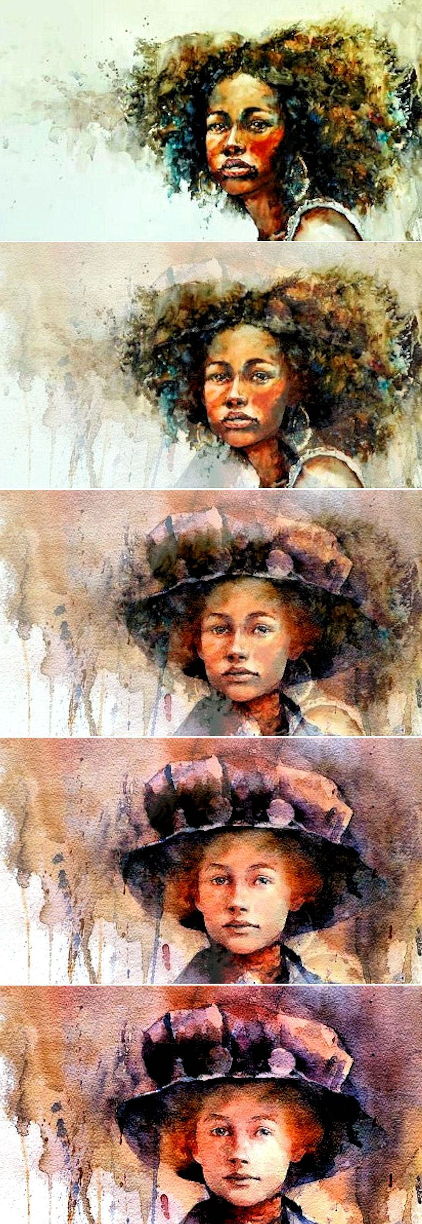 """Watercolor paintings V Morphing. Beautiful photo film of Watercolor paintings that blend together, using Morphing Music framed with the song: """"Romantic Marlimba"""" by Karpa. Watch: https://www.facebook.com/Drakre52/videos/780648618729390/ or https://vimeo.com/150159611"""