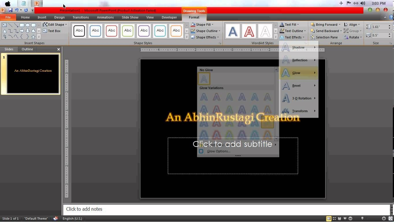 Howto Make Golden Letters In Powerpoint Printable Lettering Desktop Screenshot Printables