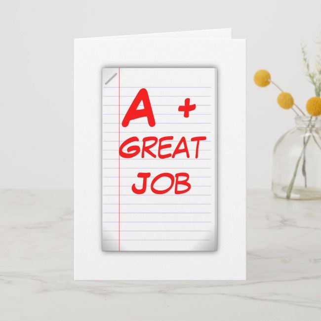 a great job greeting card card  zazzle with