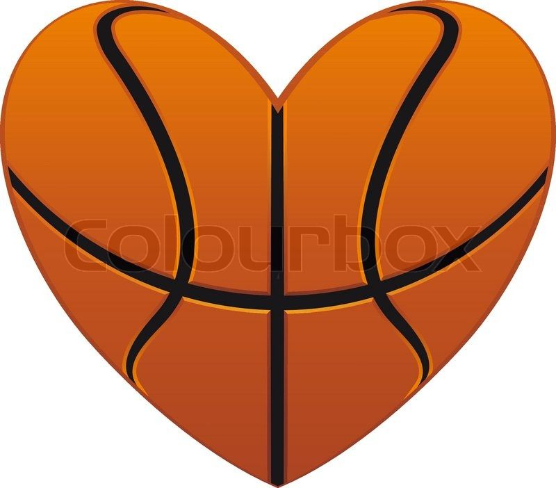 heart shaped basketball tattoo stock vector of basketball heart rh pinterest co uk heart shaped basketball clipart heart shaped basketball pictures