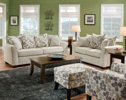 Tan Couch Set Simmons Microfiber Fabric Puff Musk Sofa And
