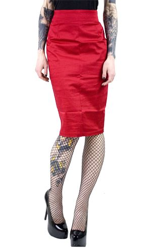 PINUP COUTURE PENCIL SKIRT RED