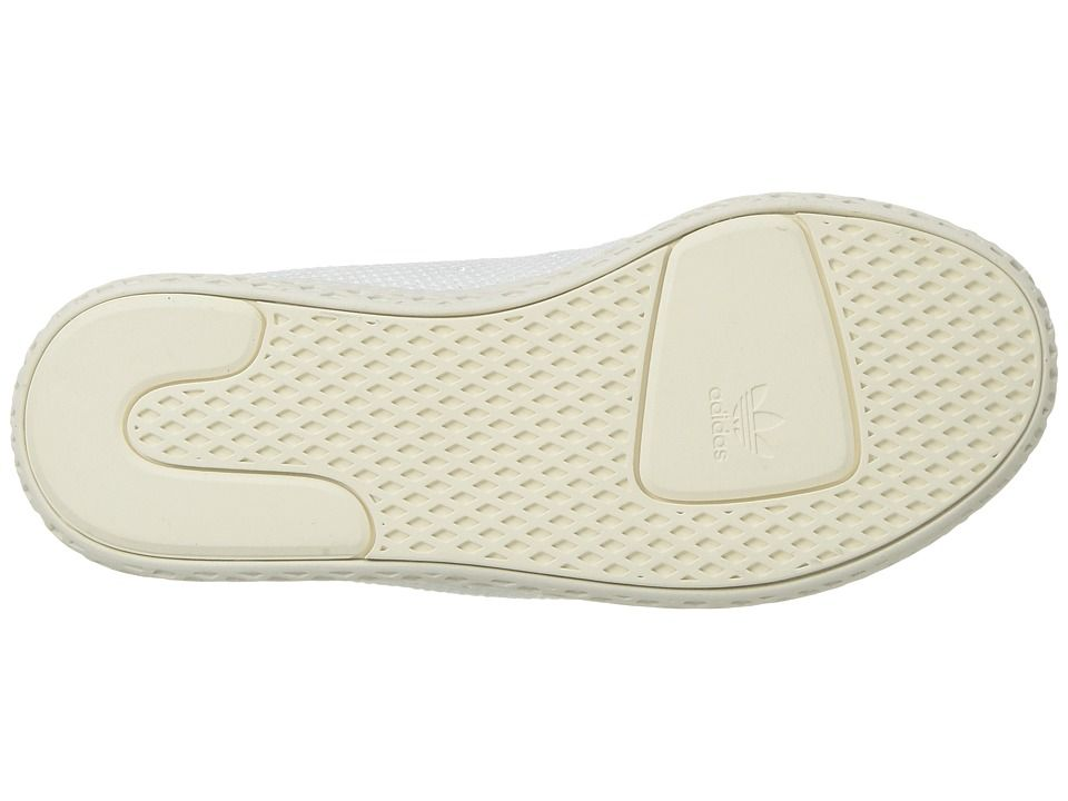 adidas Originals Kids PW Tennis HU C (Little Kid) Kids Shoes  White Blue Chalk White 3308006d2