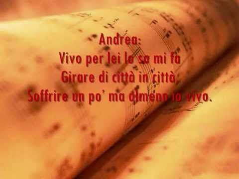 Vivo Per Lei Lyrics Andrea Bocelli Ft Heather Headley Lyrics My Music Learning Italian