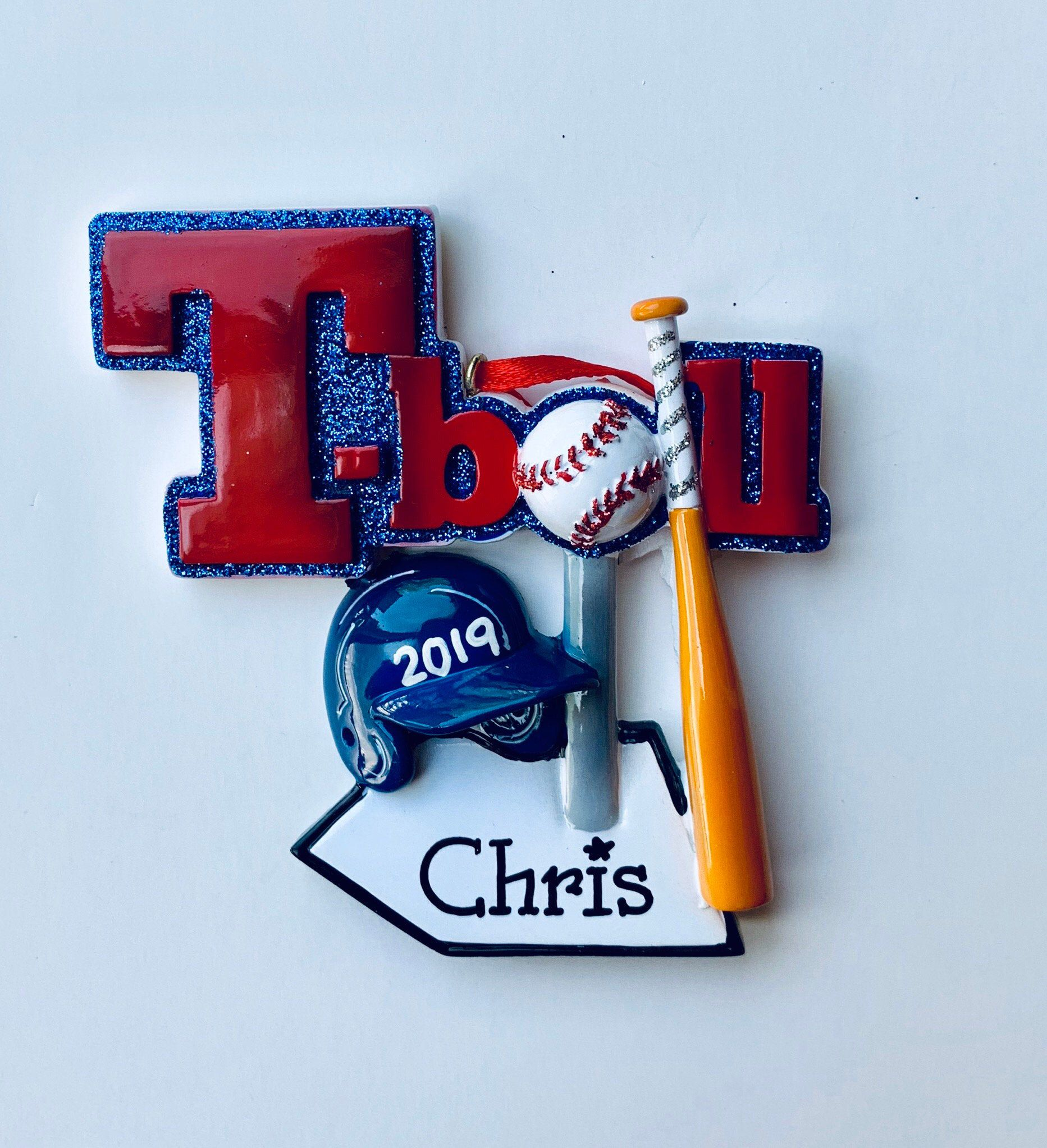 Personalized Christmas Ornament T-BAll, Wiffle Ball- Team ...