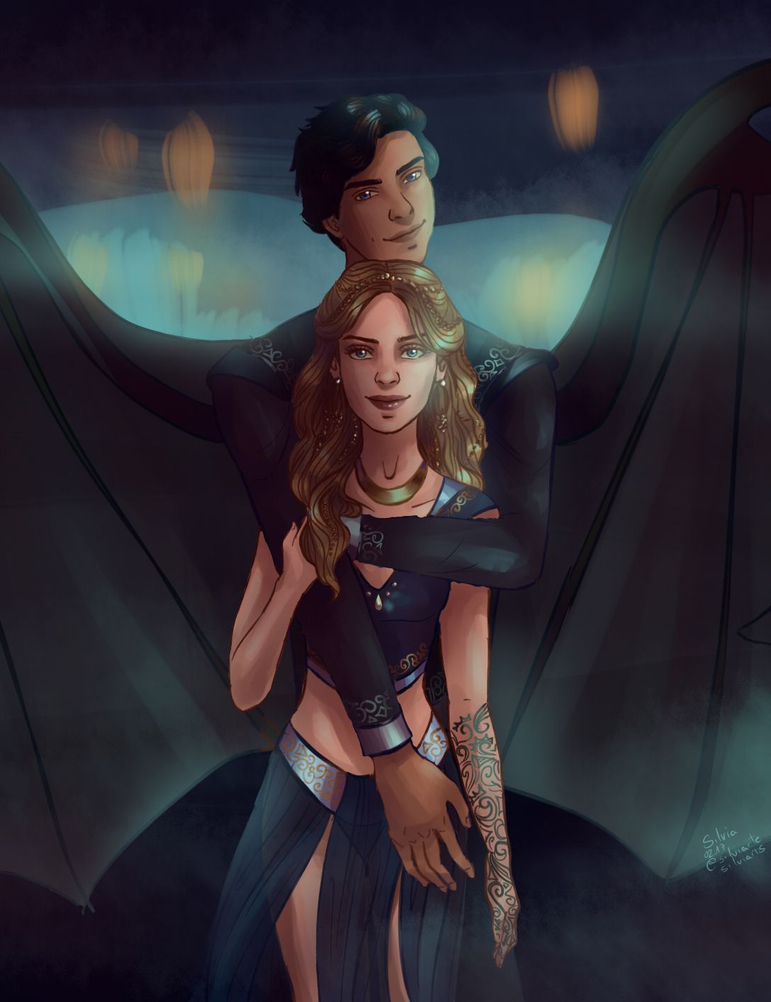 Feyre And Rhysand By Silviarts Acomaf Acowar Sarah J Maas A