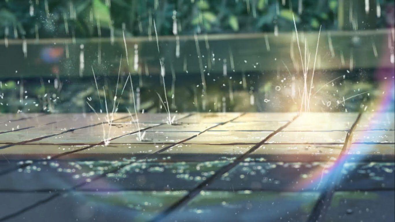 El Jardin De Las Palabras Garden Of Words Rain Animation Anime Scenery Wallpaper